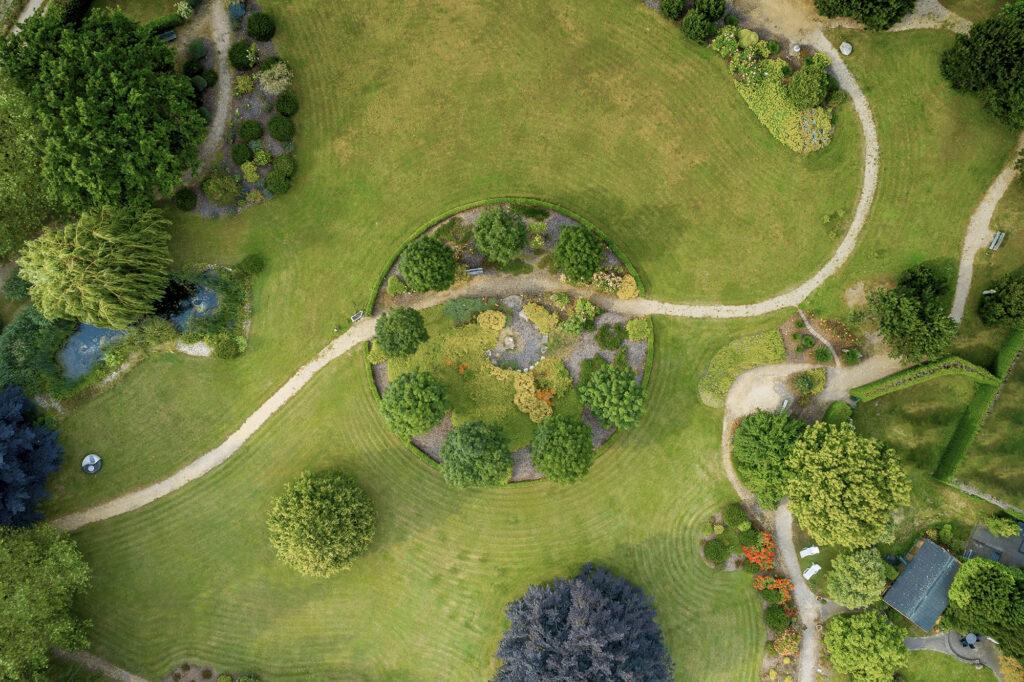 Luftaufnahme der Privatklinik Merbeck