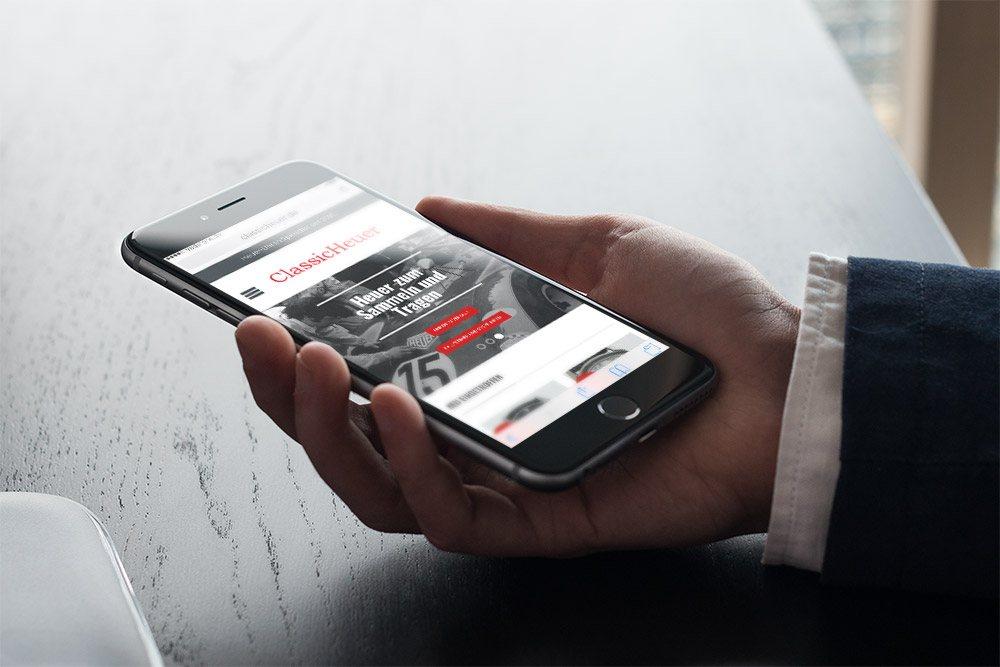 Referenz ClassicHeuer Responsive Webdesign Smartphone