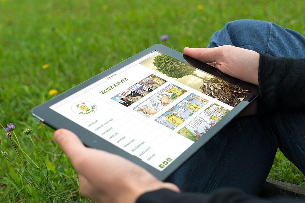 Referenz Clean up MG Responsive Webdesign Tablet