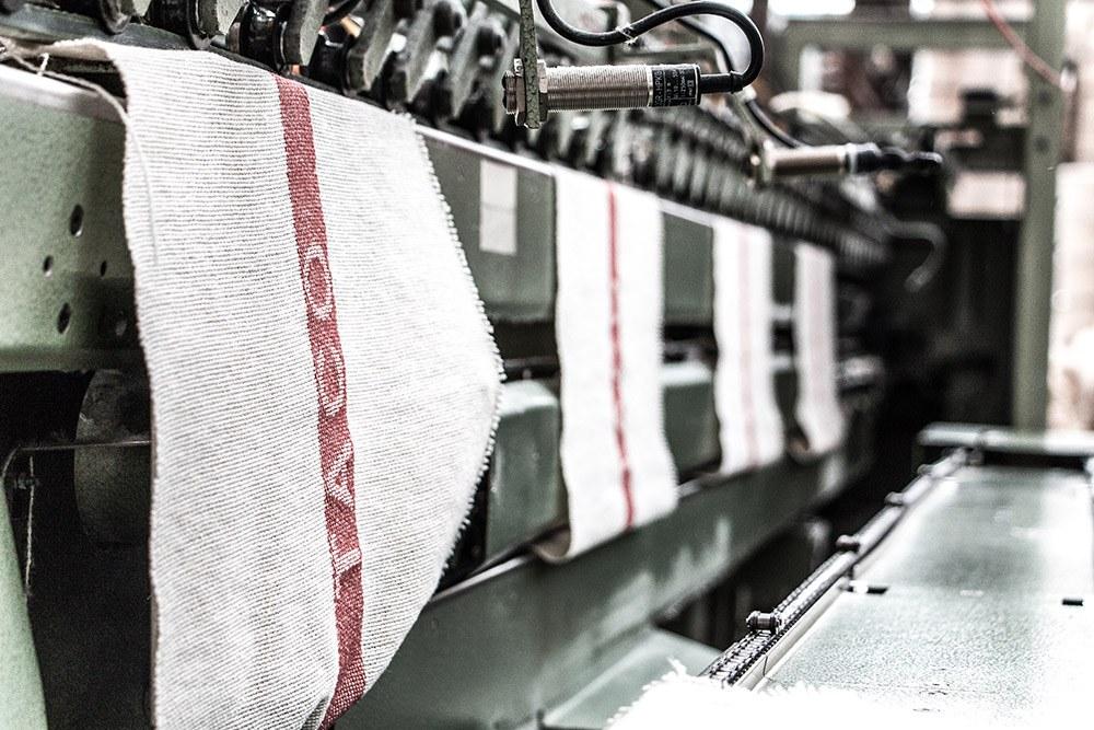Weberei für TACO Industrieputztücher