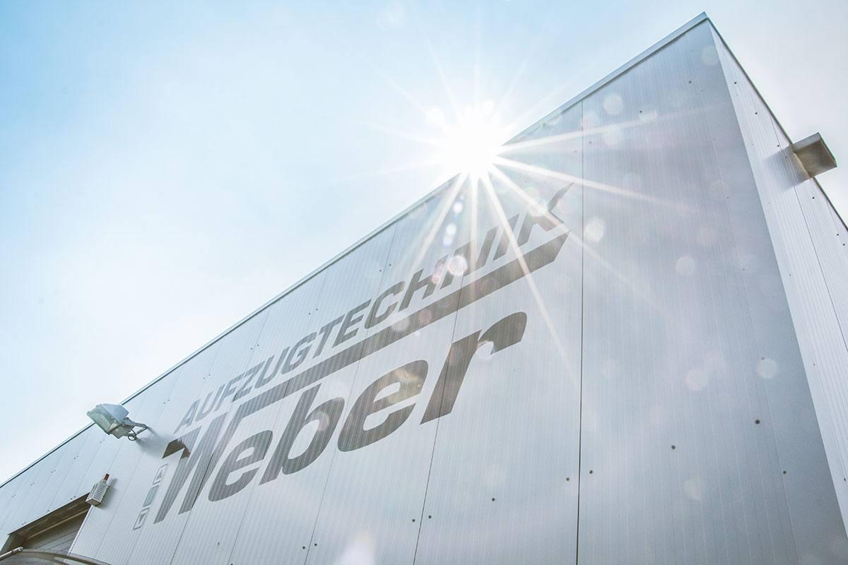 Firmengebäude Aufzugtechnik Weber