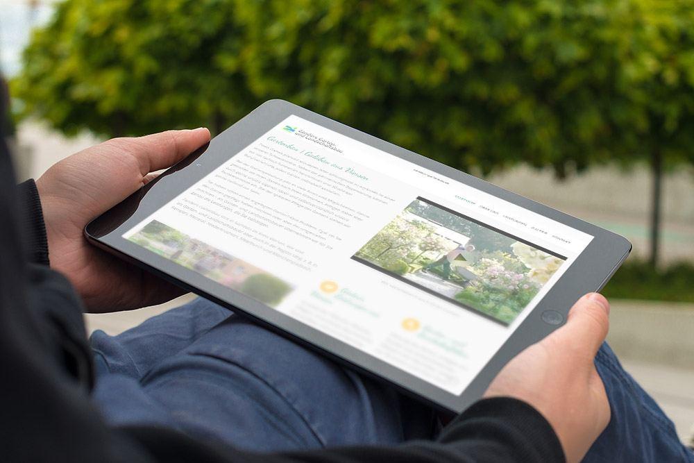 Referenz Gartenbau Zanders Responsive Webdesign Tablet