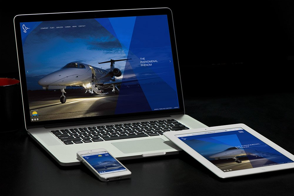 Referenz MHS Aviation Responsive Webdesign