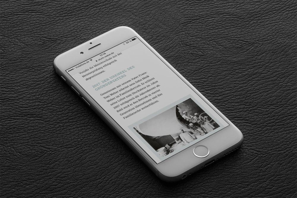 Referenz Stuckateur Weber Responsive Webdesign Smartphone