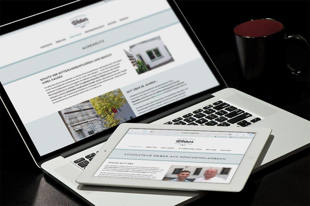 Referenz Stuckateur Weber Webdesign